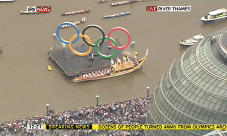 London 2012 Olympics opening ceremony buildup as it