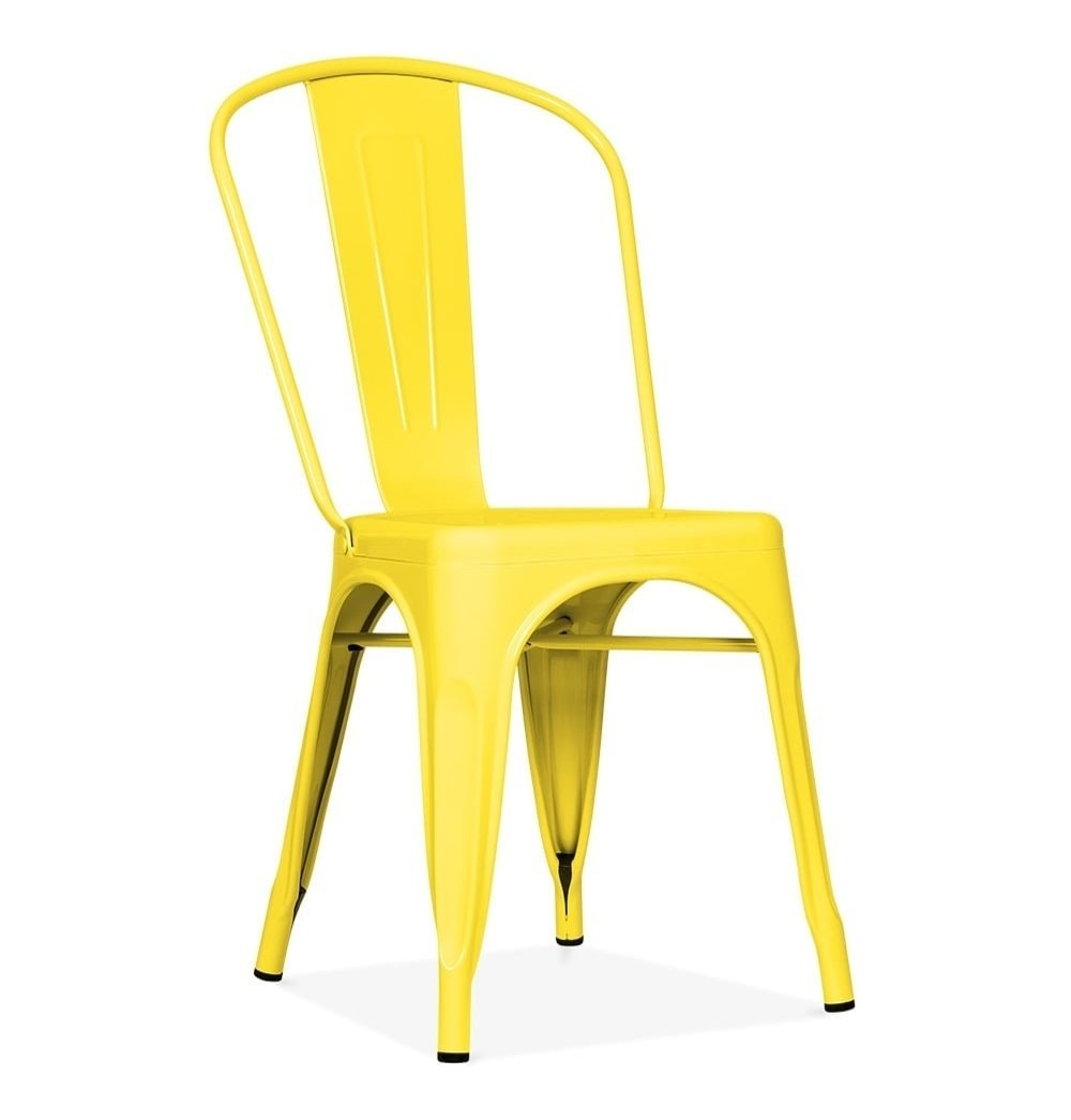Tolix Style Dining Chair Yellow Dining Chairs Restaurant