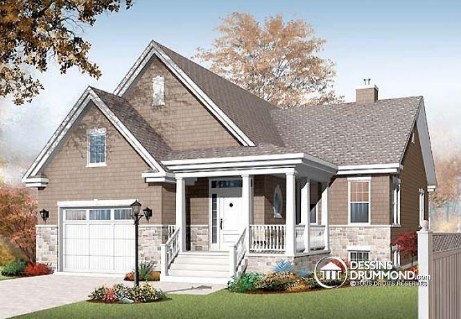 W3219-V1 - Pour famille recomposée, 4 chambres, 2 séjours, coin - site pour plan de maison