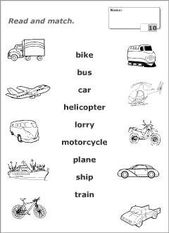 resultado de imagem para means of transportation exercises janja english worksheets for kids. Black Bedroom Furniture Sets. Home Design Ideas