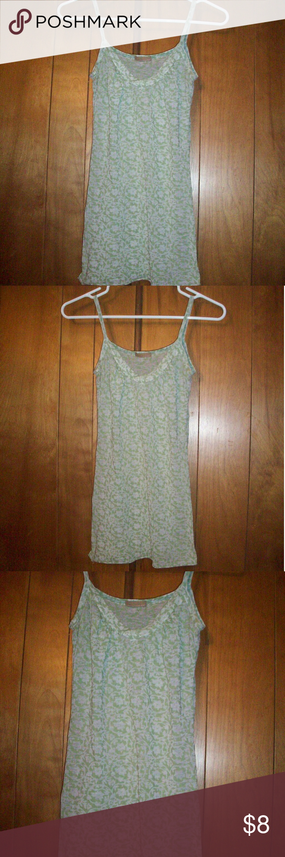 XXI Sheer Floral Design Green Cami Tank Top XXI Sheer Floral Design Green Cami Tank Top -soft & stretchy -Fits S-L -gently used XXI Tops Tank Tops