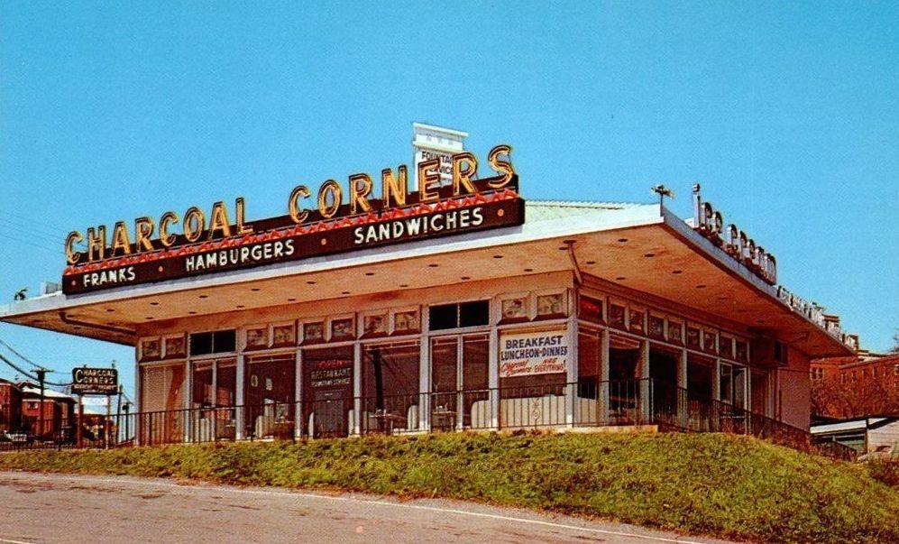 Charcoal Corners in Hackensack 1960's Bergen county new