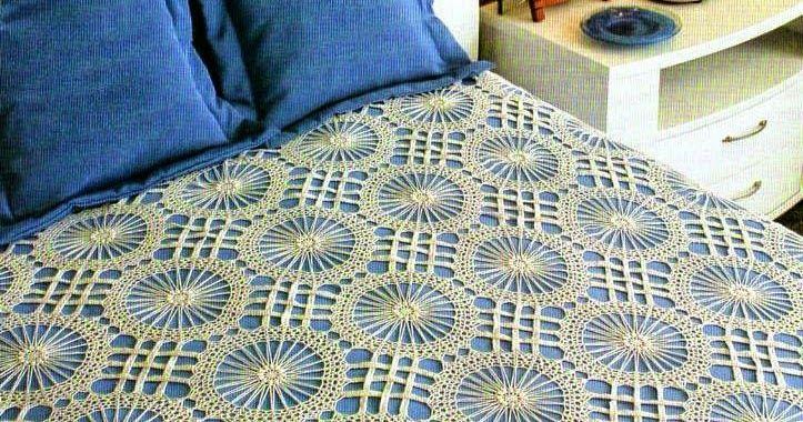 Todo Crochet Crochet Bedspread Crochet Bedspread Pattern Blanket