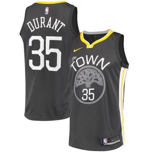 Nike Warriors  35 Kevin Durant Black Statement Edition NBA Swingman Jersey 45190a844