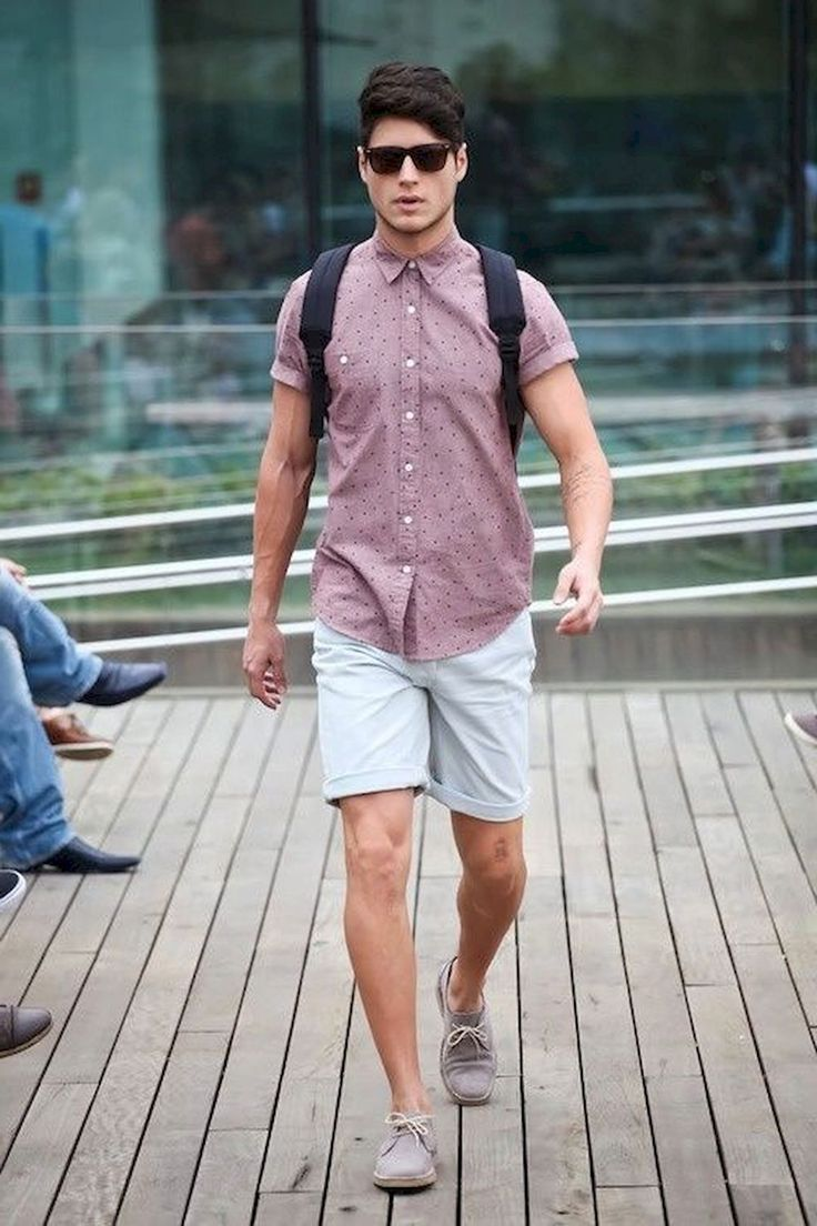 Guys Back to School Fashion - Shorts + Short sleeve button ...