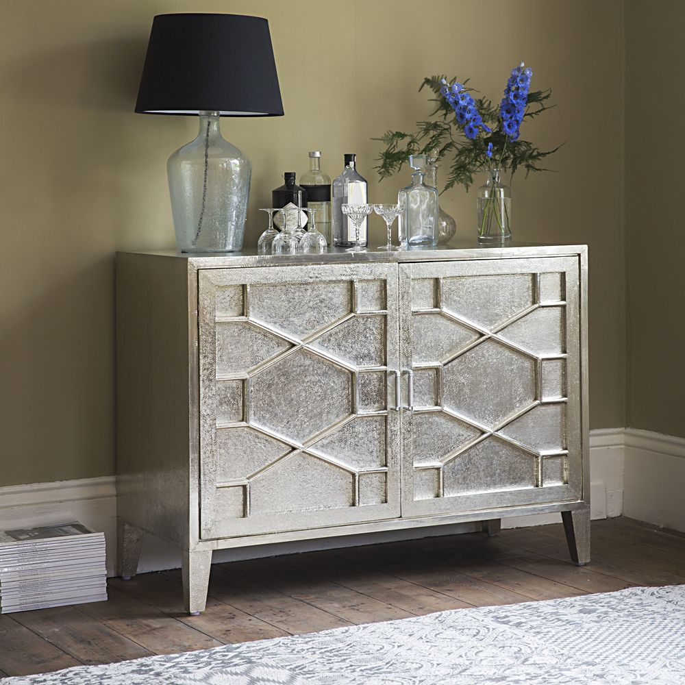 Hex White Metal Sideboard Atkinandthymecouk