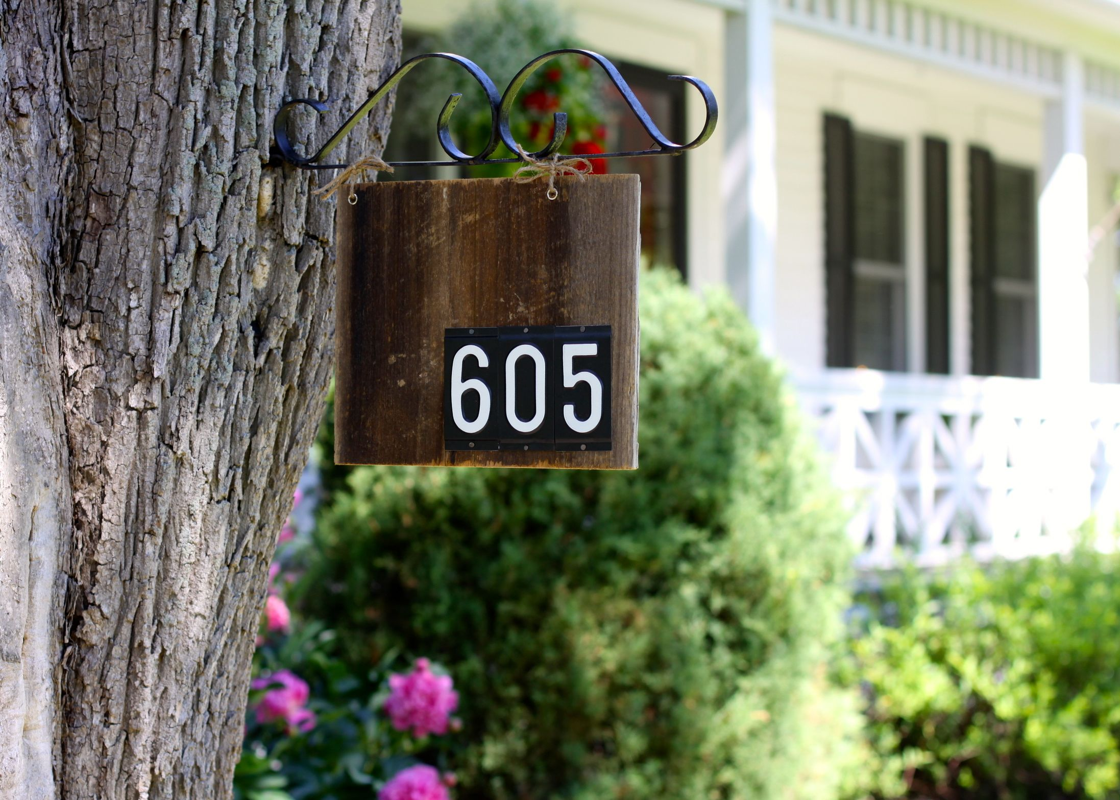 Barn Wood House Number Sign Reclaimed wood projects