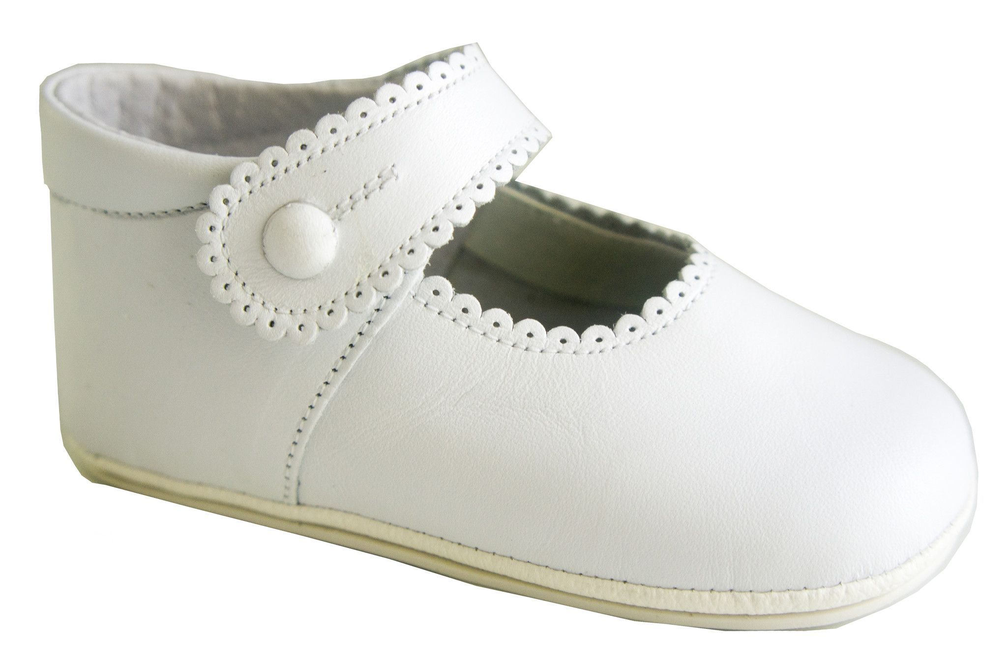 Infant Classic soft Leather White Shoes for Girls
