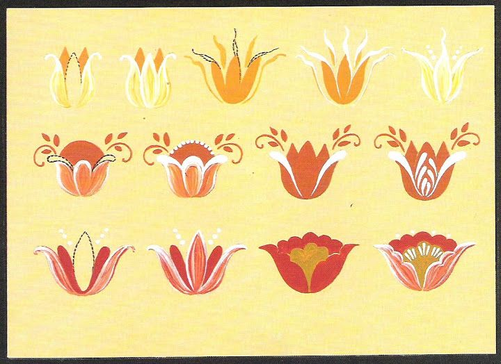 step-by-step Folk ART Flowers - senia One Stroke - Álbumes web de Picasa