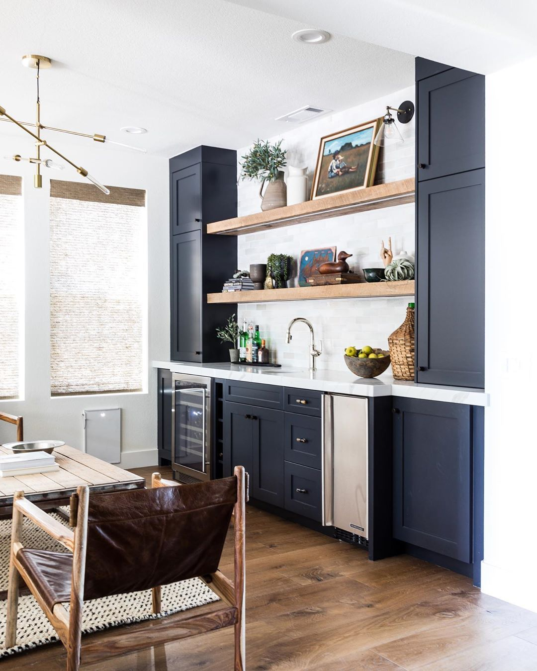 A Recent Study By Homehow Co Uk Revealed That Gray Specifically Paris Grey By Zoffany Is This Year S Most P Living Room Bar Kitchen Wet Bar Dining Room Walls Wet bar in living room designs