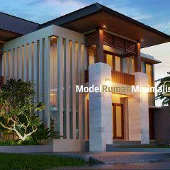 desain model rumah minimalis 2 lantai pak putu yudi #