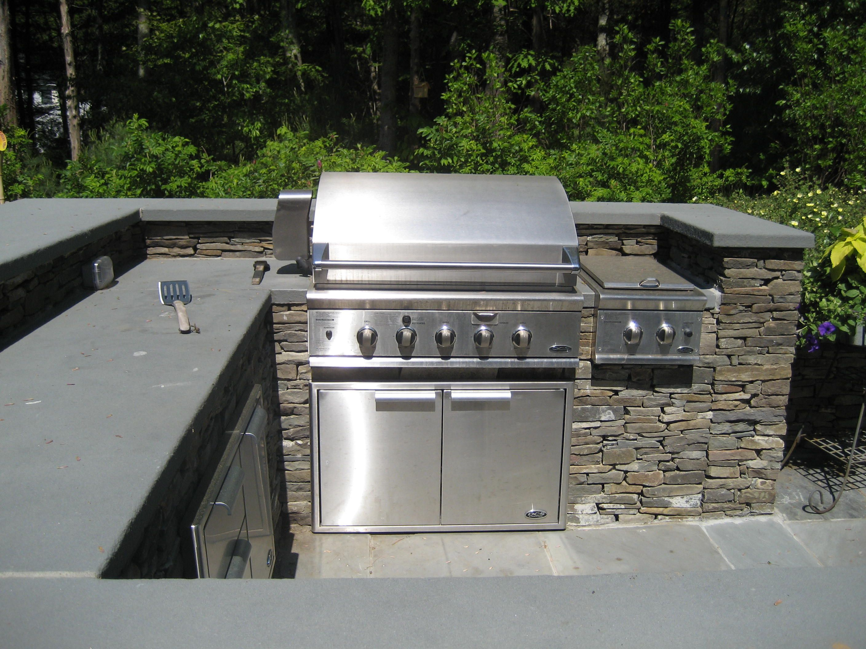 Image Result For Honed Granite For Outdoor Bbq Outdoor Kitchen