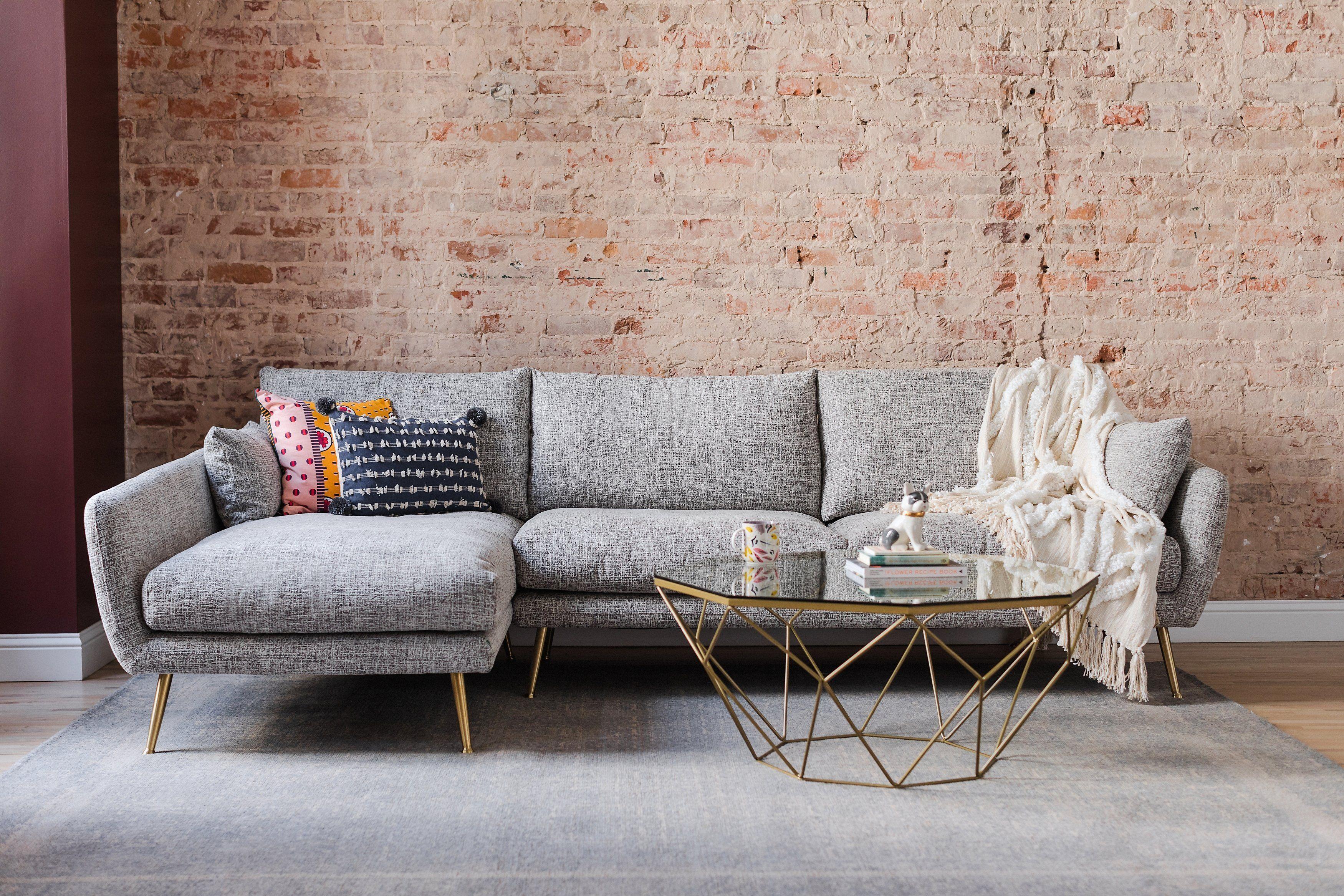 Harlow Sectional Sofa Edloe Finch Furniture Co Modern Sectional Sectional Sofa Mid Century Modern Living Room