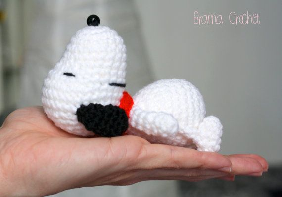 Amigurumi Patterns Snoopy : Snoopy kawaii crochet amigurumi doll · handmade crochet toy plush