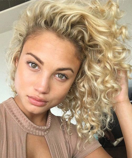 Blonde Classic Perm Hair Cabello Rizado Cabello Pelo Bonito