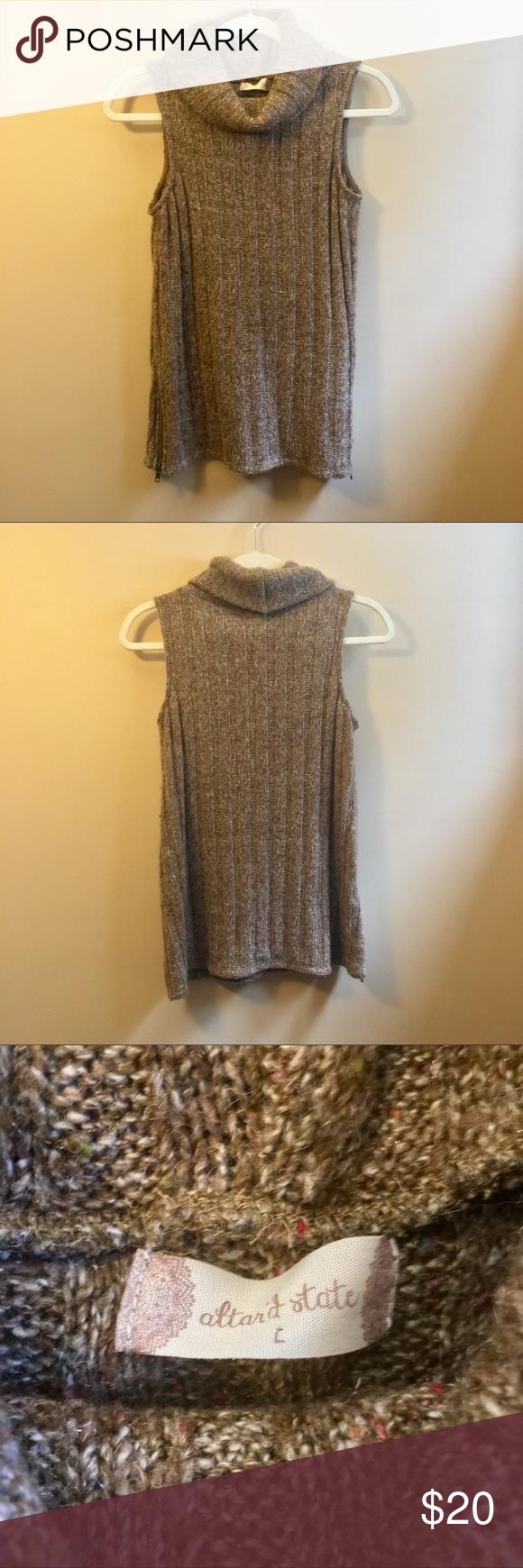 Caroline Cowl Neck Sleeveless Sweater in Brown This sleeveless cowl neck sweater…