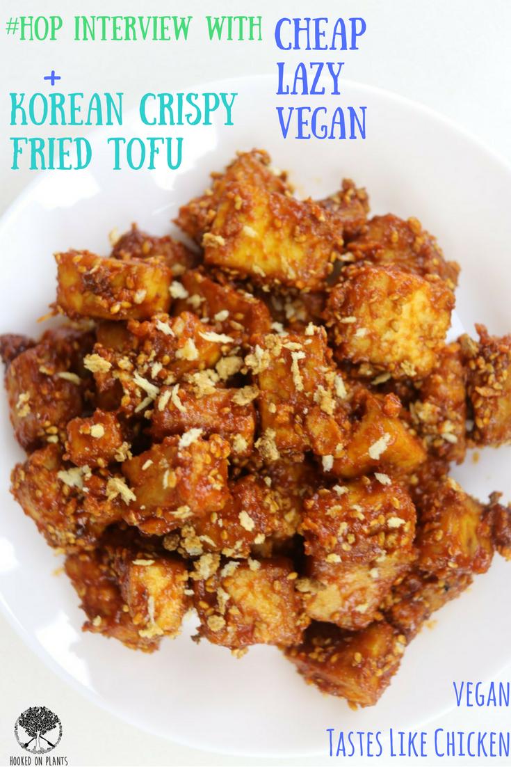 Spicy Korean Fried Chicken Style Tofu