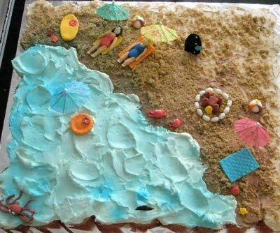 Pull Apart Cupcakes Designs This Beach Theme Pull Apart Cake
