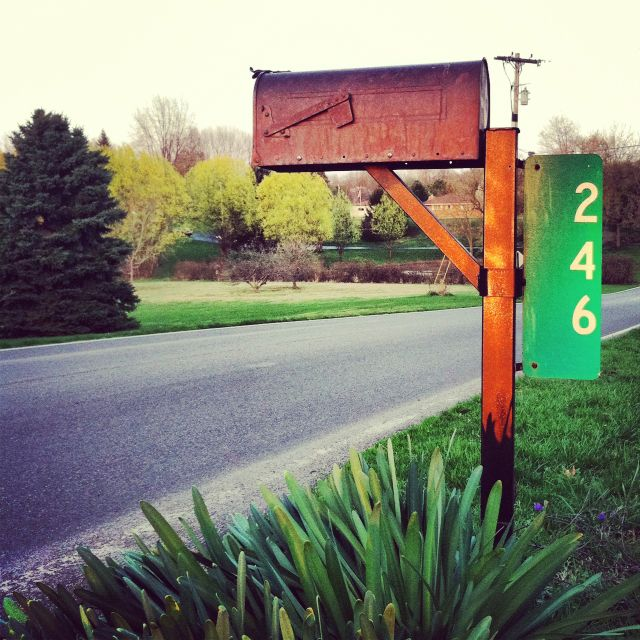 Smith And Hawken Copper Mailbox Country Road Curb Appeal