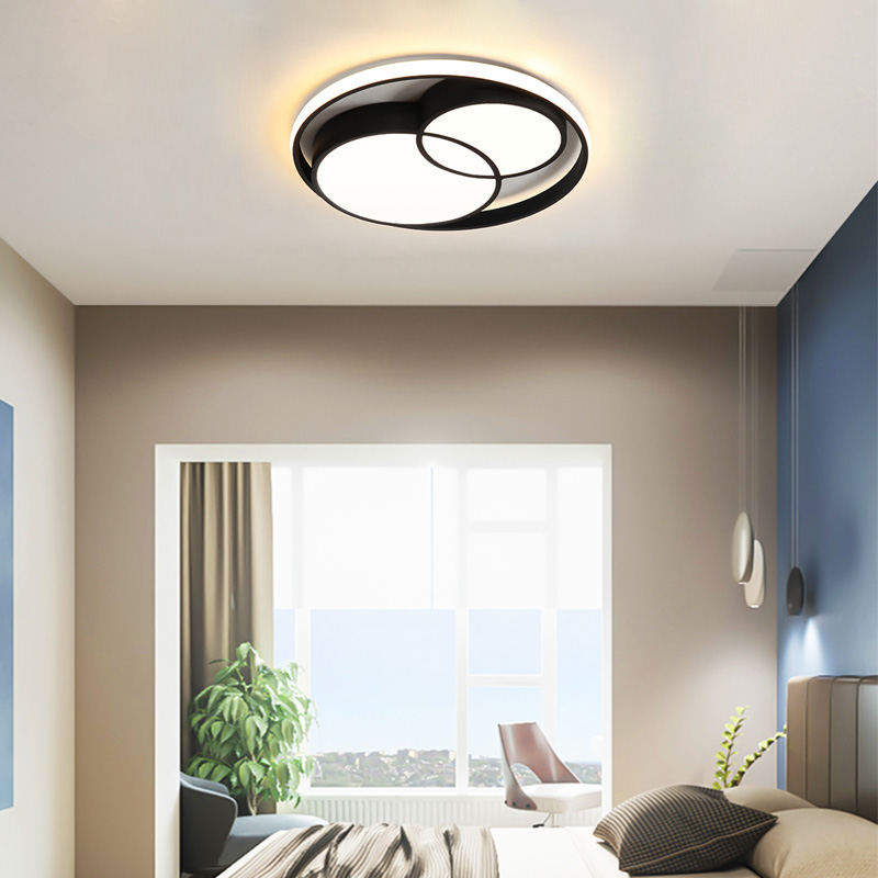 Contemporary Led Flush Mount Circualr Ceiling Light Unique Design
