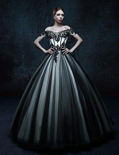 Vestido de novia de color negro