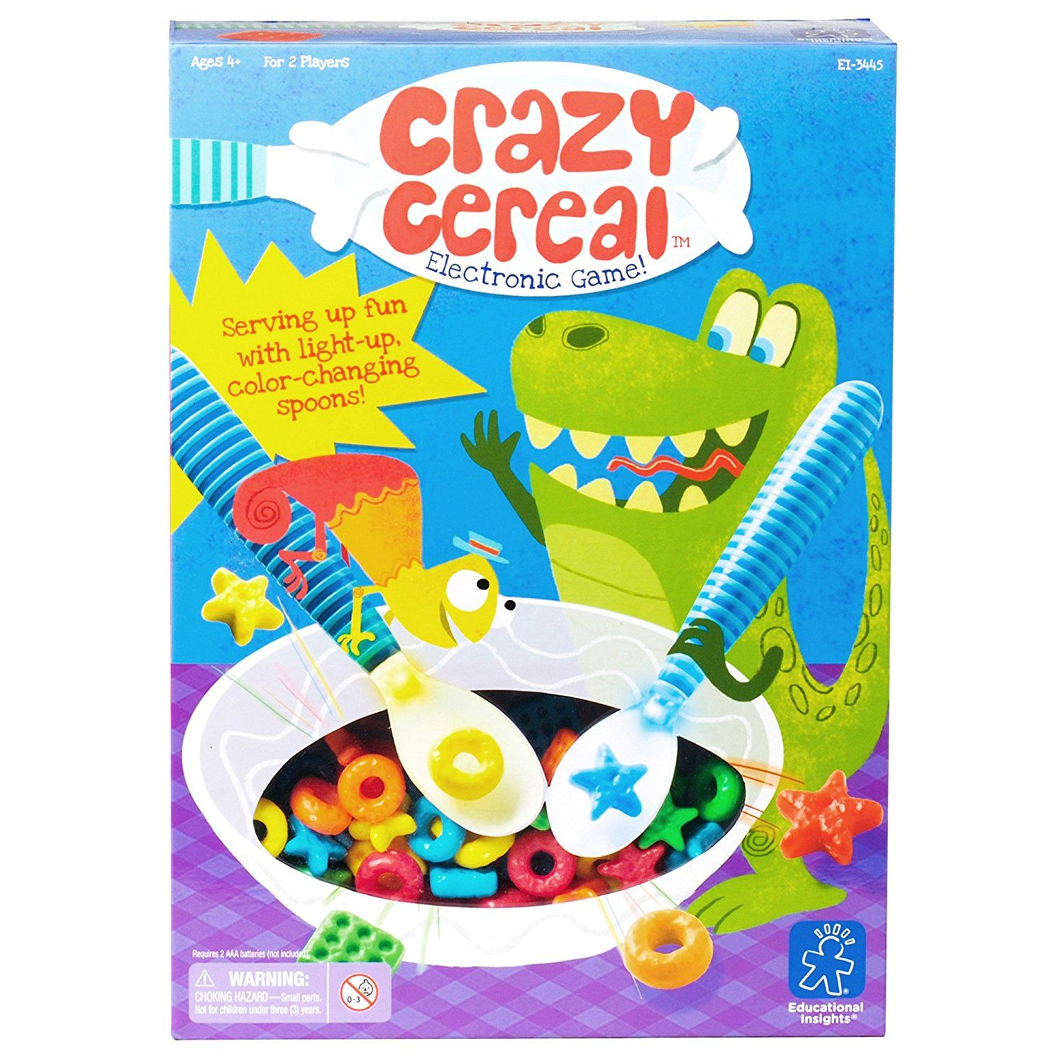 Amazoncom Educational Insights Crazy Cereal Electronic Game Toys Snap Circuits Sc300 Electronics Discovery Kit Games