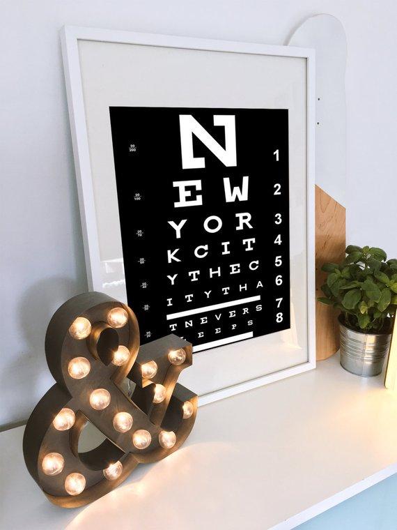 Eye Chart Wall Art