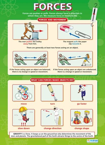 Forces | Science Educational School Posters | Education ...