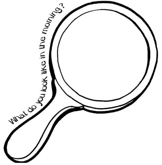 printable pictures of a mirror  drawing and coloring fun