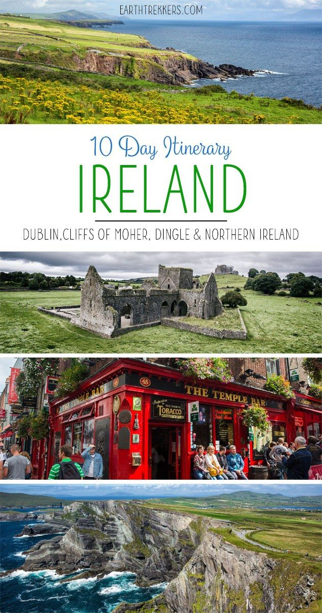 10 Day Ireland Itinerary: Dublin, Killarney, Rock of Cashel, Ring of Kerry, Skellig Michael, Dingle Peninsula, Cliffs of Moher, and Northern Ireland. Where to stay, where to eat, and how to manage your time.