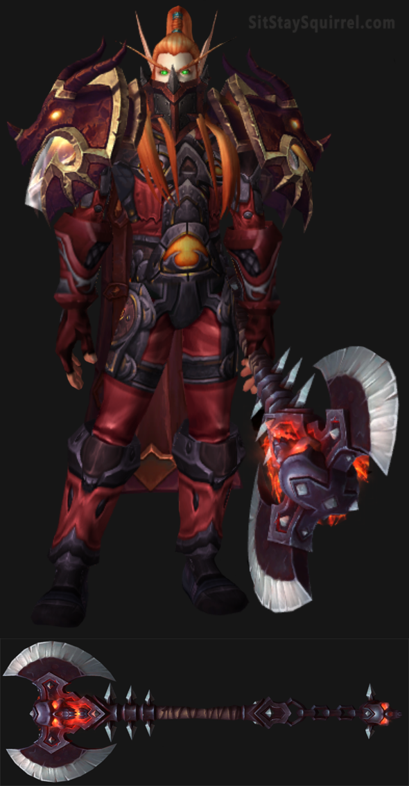 Blood Elf Male Arms Warrior Artifact Set World Of Warcraft Arms