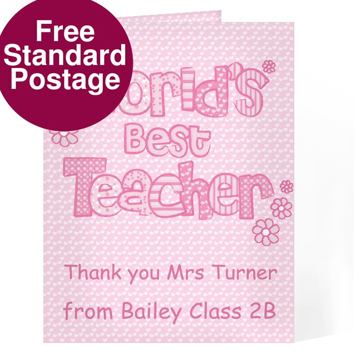 world's best teacher card  teacher gifts teachers day