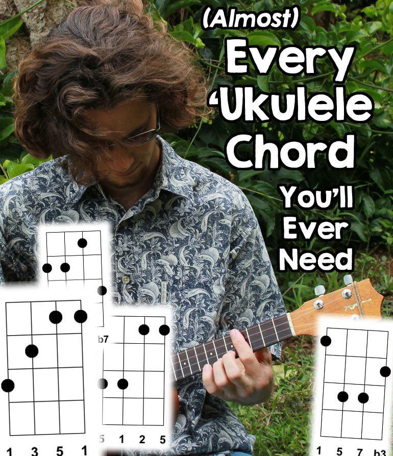 Chord charts for 99 of ukulele chords ukulele love