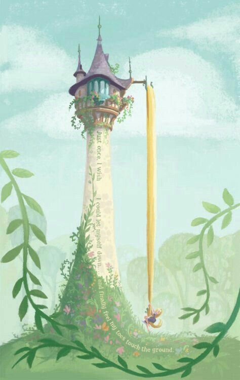 Rapunzel s tower tangled disney disney artwork disney art - Tangled tower wallpaper ...