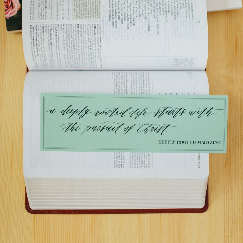 """""""A Deeply Rooted Life"""" Bible Bookmark - Deeply Rooted Magazine"""