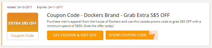 Good Purchase Menu0027s Apparel From The House Of Dockers And Use This Lazada Promo  Code To Grab
