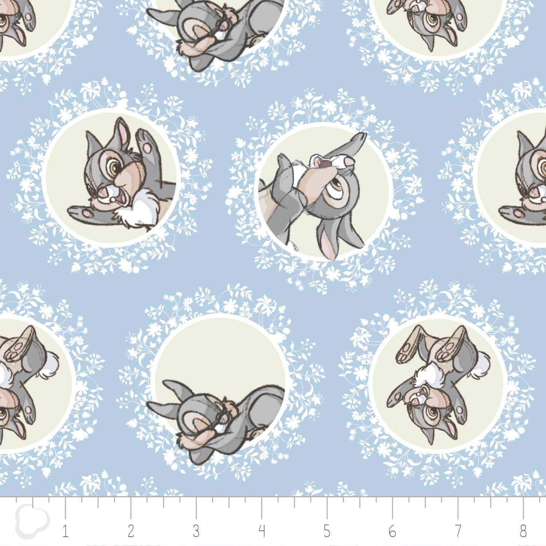 Thumper Disney Bambi Fabric Camelot | Cotton Craft Fabric | Pinterest