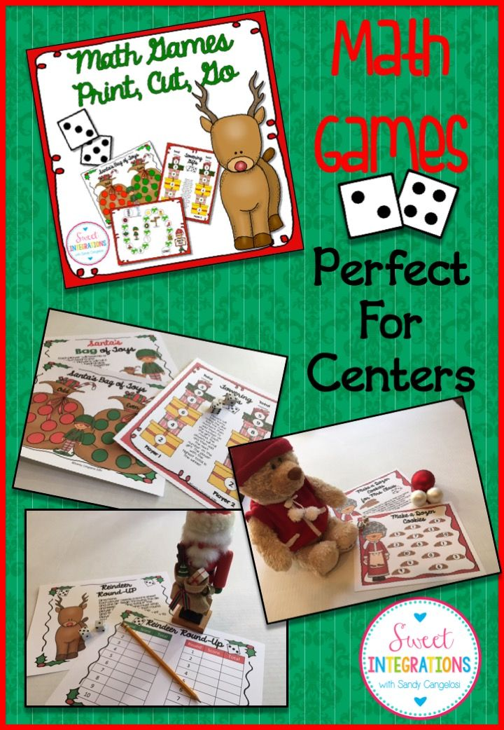 CHRISTMAS ACTIVITIES MATH GAMES - Print, Cut, Go (Add, Subtract ...