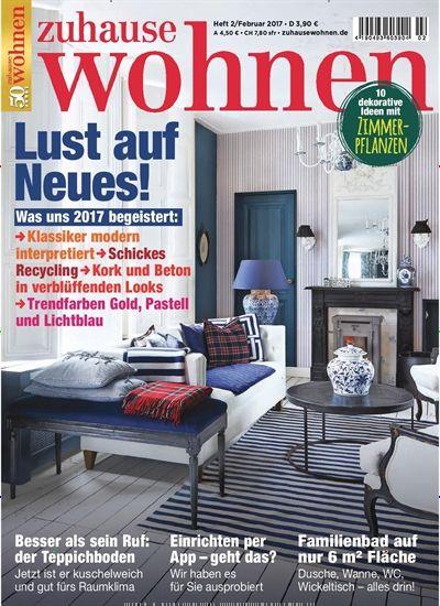 Zeitschrift Zuhause Wohnen was uns 2017 begeistert schickes recycling trendfarben