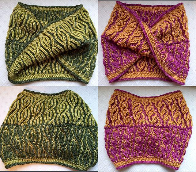 Vakker Brioche Cowl pattern by Nona Davenport | Stricken, Schals und ...