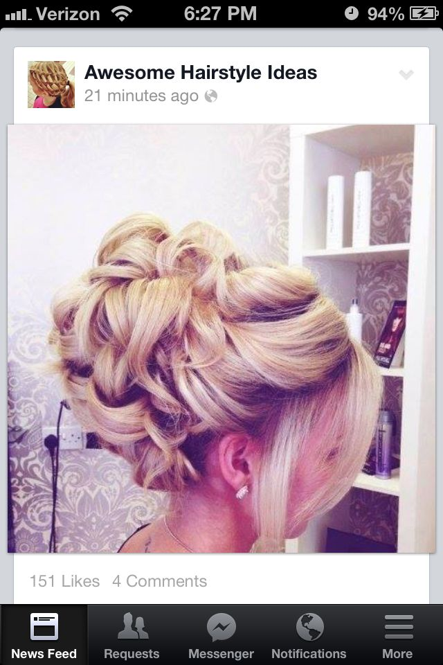 Put some gems in there and that is a gorgeous hairstyle!