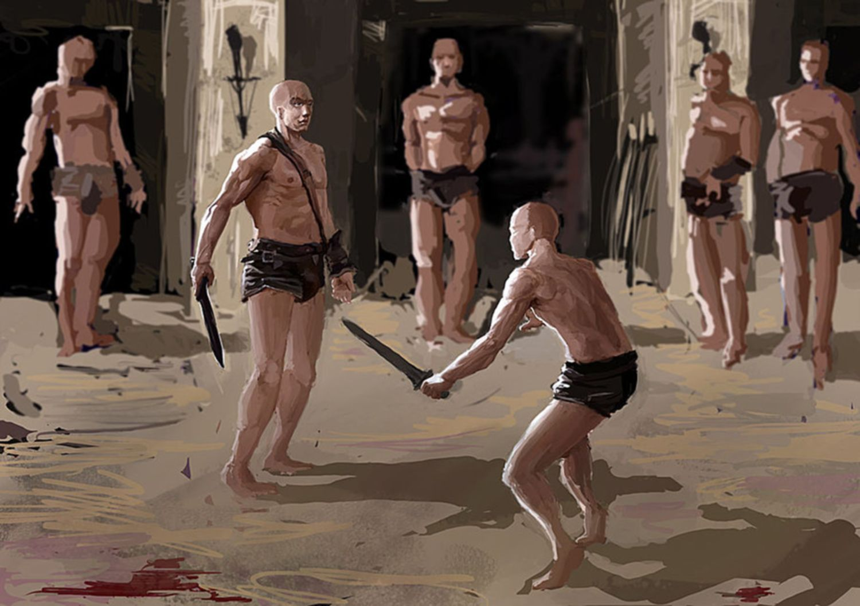 Gladiators training