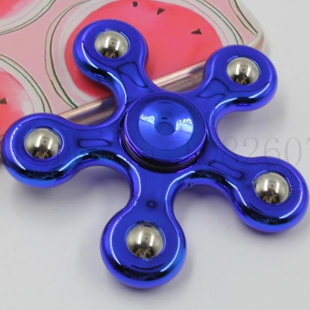 Newest Hot Sales Multi Color Pentagon Gyro finger Spinner&Finger Spinner Fidget Anxiety Stress Relief Focus Toy Gifts