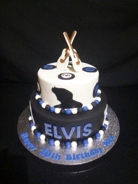 Elvis Themed 2 Tier Birthday Cake My Boy Pinterest Cake