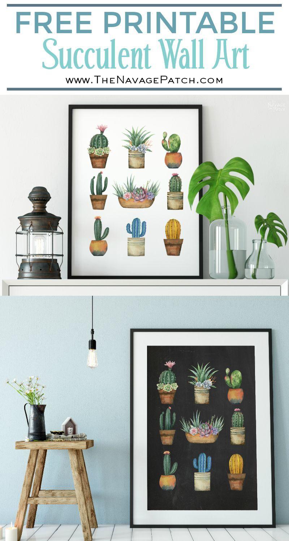Free Printable Succulent Monogram Wall Art | Beautiful Free Succulent Initials Wall Art | #farmhouse  sc 1 st  Pinterest & Free Printable Succulent Monogram Wall Art | Pinterest | Initial ...