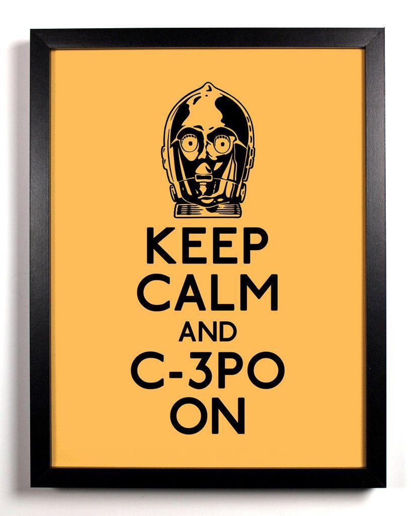 star wars, c3po, movies, film, pop culture, keep calm, wall art ...
