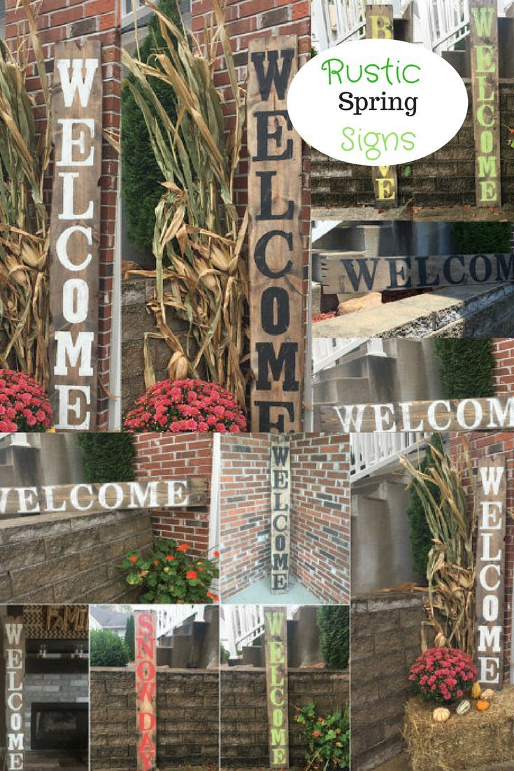 Spring Decor Rustic Outdoor Signs