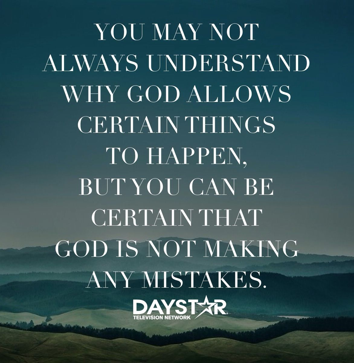 You may not always understand why God allows certain
