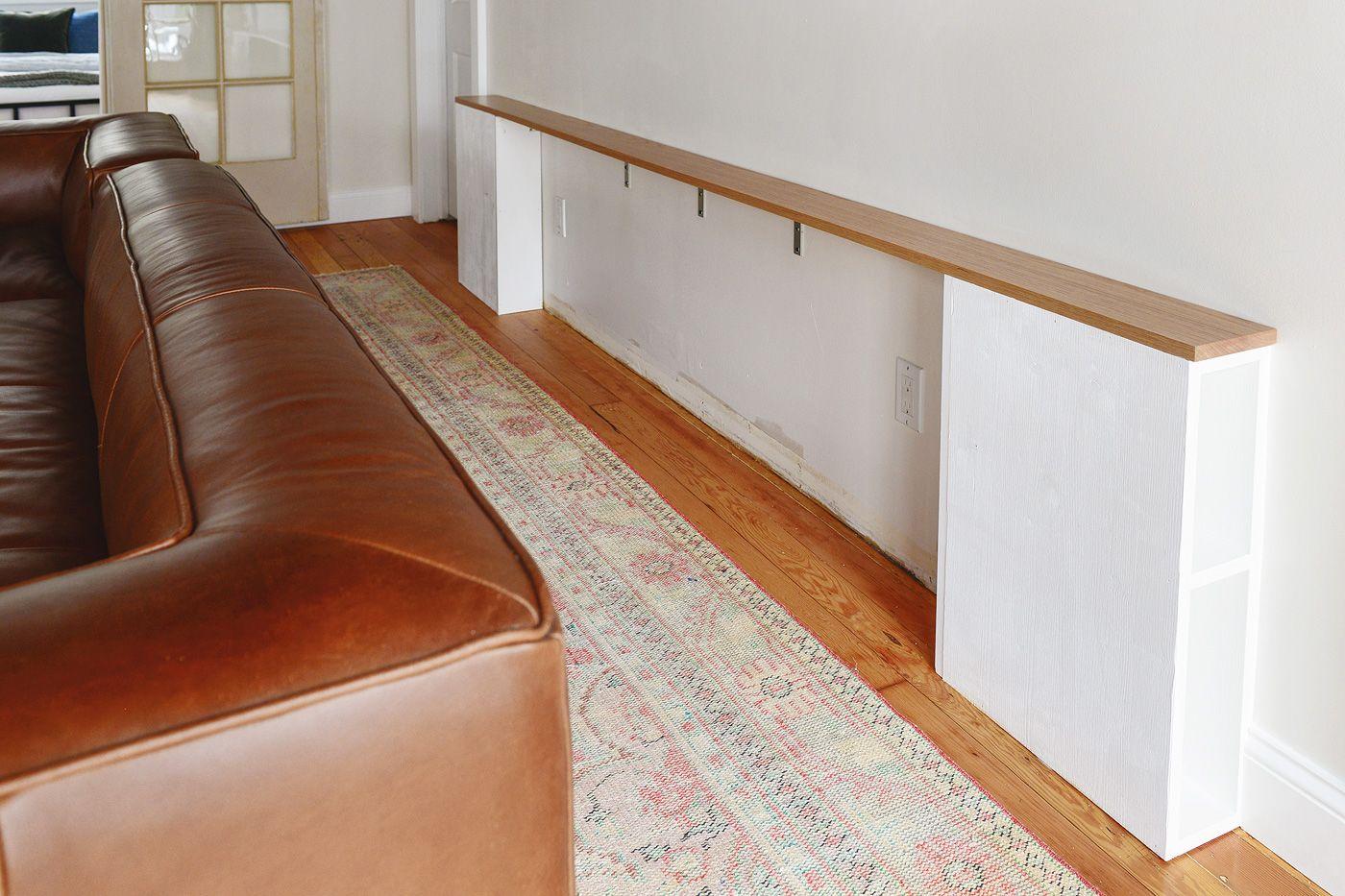 Diy Problem Solving A Slim Behind The Sofa Console Diy Sofa