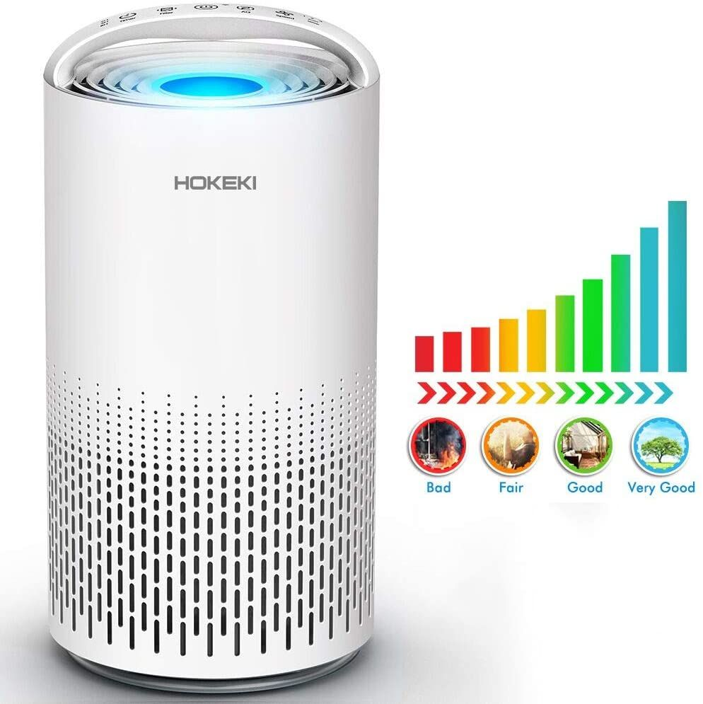Hokeki Air Purifier For Large Room Air Cleaner With True Hepa Filter 5 In 1 Odor Eliminator ในป 2020